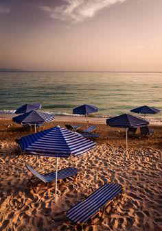 #Lourdata_Beach #umbrellas #Kefalonia