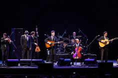Lyle Lovett (center) and his Acoustic Group perform at Prospect Park Bandshell during Celebrate Brooklyn.