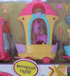 My Little Pony MOTORIZED FRIENDSHIP EXPRESS TRAIN AROUND TOWN Playset w 3 Figures, 4 Animals & More!: Toys #MLP #My Little Pony