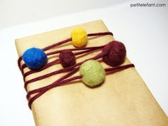 wrap presents with felt balls