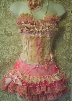frilly, corset