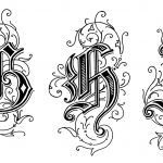 Gothic Letters 3 - Letters G H I
