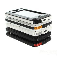 Aluminum Metal Waterproof Shockproof Dustproof Case For iPhone 5 5S