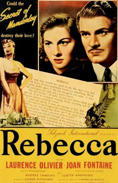 6/11/14  10:14p  United Artists Release  Selznick International  ''Rebecca''   Joan Fontaine Laurence Olivier  Judith Anderson  Director   Alfred Hitchcock  1940  Best Picture Oscar