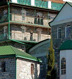 Τhe monks' cells (rooms) - St. Panteleimon Monastery, Mount Athos, Greece
