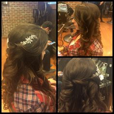 Wedding hair one side up hairstyle by joanne at BangZ salon 516-781-1111