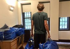 Moving out of the college dorm: Eleven steps to save time, prevent backache, and minimize stress.