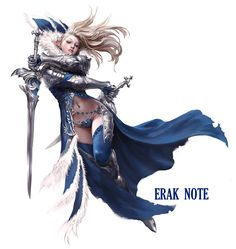 ArtStation - Blue Sword-dancer., Erak note