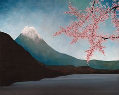 Mount Fuji, by Soniei (Contemporary Japanese Artist).