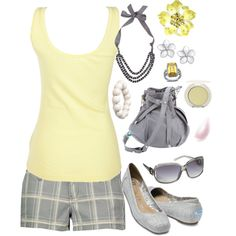 Pale Yellow & Gray, created by smgilreath