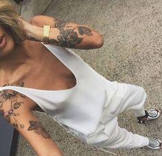 all white. #tattoos
