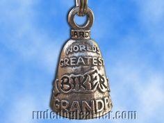 Stainless Steel Firefighter Ride Bell Gremlin Bell Guardian Bell
