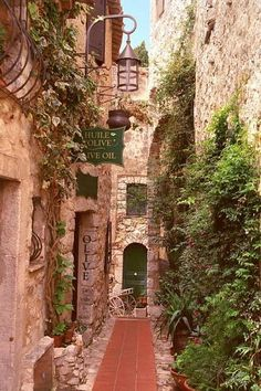 The Village of Eze, France- I know I could live here by myself and just wander the streets.