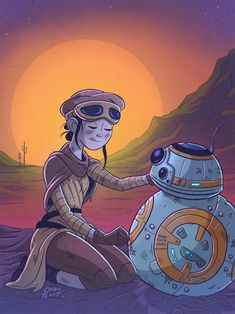 """""""Rey and BB-8 hanging out."""" 