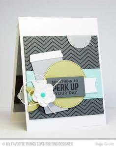 Perk Up, Chevron Background, Blueprints 12 Die-namics, Cofffee Cup Die-namics - Inge Groot  #mftstamps