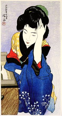 A Woman of the Town  by Ito Shinsui, 1916  (published by Watanabe Shozaburo)