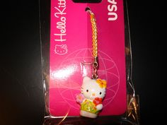 A genuine Sanrio 2005 Hello Kitty USA Cell Phone Charm. Charm features Hello Kitty in a Hawaiian outfit. World Map App, Sanrio Hello Kitty, Galleries, Hawaii, Charms, Christmas Ornaments, Holiday Decor, Phone, Collection