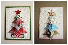 folded tree card