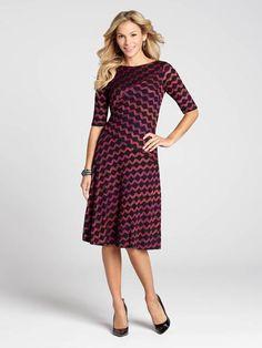 Wave Knit Flared Skirt Dress Flared Skirt, Dress Skirt, Wave, Dresses For Work, Knitting, Skirts, Outfits, Fashion, Formal Skirt