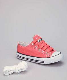Look at this Coral & White Sneaker on #zulily today!