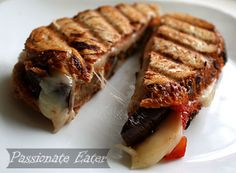 Passionate Eater: Working Eater Series: Mozzarella and Eggplant Panini Sandwiches