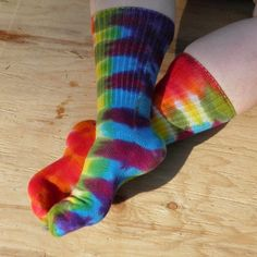 we love tie dyed socks. especially with jammies and crocs.