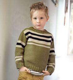Modèle pull à rayures enfant