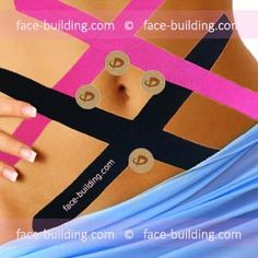 Skeleton Tapping Tummy - Stabilizing- Skeleton taping of the abdomen – Stabilization of the muscles of the cortex, skin tightening Yoga Facial, Tape Face, Foot Pain Relief, Kinesiology Taping, Sports Training, Abdominal Muscles, Skin Tightening, Massage, Medical