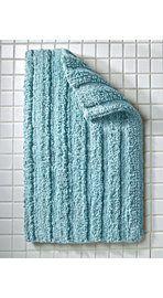 Tufted Striped Bath Rug
