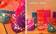 DIY colorful lanterns