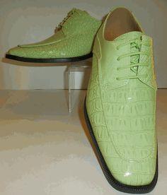 Mens Shiny Pastel Green Mint Croco Embossed Dress Shoes Roberto Chillini 6548 Men Dress, Dress Shoes, Oxford Shoes, Pastel, Lace Up, Mint, Green, Dresses, Fashion