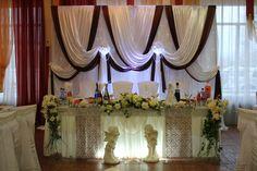 Оформление зала на свадьбу в шоколадном цвете