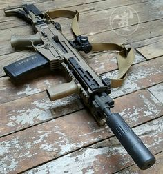 @czusafirearms FDE 805 BREN SBR with mini4 #gunsdaily #weaponsdaily #sickguns…