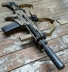 @czusafirearms FDE 805 BREN SBR with mini4 #gunsdaily #weaponsdaily #sickguns…