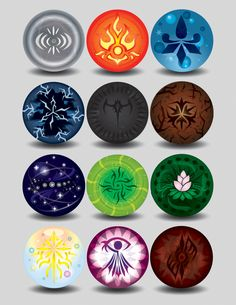 Elemental Orbs by LucienVox on DeviantArt Anime Weapons, Fantasy Weapons, Magia Elemental, Madara Wallpapers, Elemental Powers, Element Symbols, Elements Of Nature, Story Elements, Magic Symbols