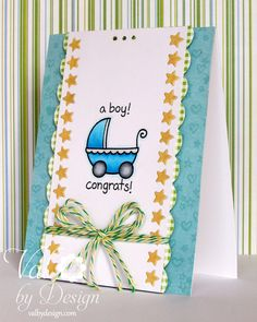 Baby Card with Lawn Fawn | ValByDesign