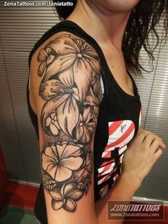 Lily Tattoo Design for Sleeves. via www. http://forcreativejuice.com/pretty-lily-flower-tattoo-designs/