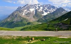 Cycling up from Col du Telegraphe to Col du Galibier - France