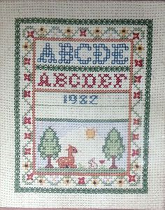 Forest Sampler American Needlework Company 1982 Counted Cross Stitch Kit 4x5 NOS #AmericanNeedleworkCompanyForestSampler