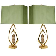 Pair of Bronze Table Lamps by Willy Daro - All For House İdeas