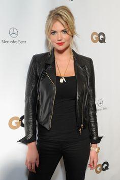 Kate Upton leather jacket.