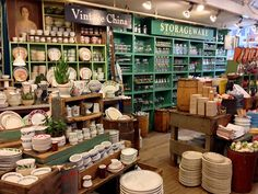 If anyone asks me, I will quickly tell them that Fishs Eddy is my favorite shop in NYC. I have a long-standing love of dishes and serving pieces and the like. Kitchenware Shop, Showroom, Dish Display, New York, Store Displays, Boutique Displays, Teak Dining Table, Shopping Near Me, Shop Layout