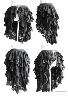 bustle skirt ...looks alot like the one I was originally going to make for halloween, except mine will be cream colored.