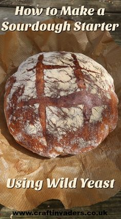 How to collect and use wild, natural yeast to make an easy Sourdough starter for baking Levain bread. Gin Recipes, Bread Recipes, Lunch Recipes, Easy Recipes, Cooking Recipes, Yeast Starter, Peanut Butter Fingers, Vegan Queso, Twice Baked Potatoes