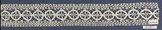 Insertion Date: 16th century Culture: Italian Medium: Bobbin lace Dimensions: L. 12 1/2 x W. 2 inches (31.8 x 5.1 cm) Classification: Textiles-Laces Credit Line: Rogers Fund, 1920 Accession Number: 20.186.71