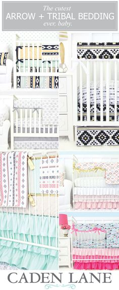 Shop the most adorable Arrow or Tribal Crib Bedding you've ever seen! Click through to see all of our tribal collections!