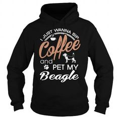 Sip coffee and pet my Beagle Ugly Christmas Sweater Funny T-Shirt  LIMITED TIME ONLY. ORDER NOW if you like, Item Not Sold Anywhere Else. Amazing for you or gift for your family members and your friends. Thank you! #beagle #dog #pets