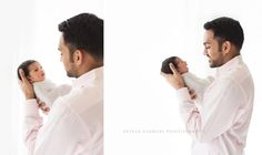 Estela Giargei Photography - Houston Newborn Photographer - Dad and baby Portrait by Estela Giargei Photography in Houston
