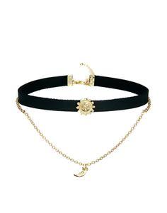 ASOS Sun & Moon Choker Necklace I. want.