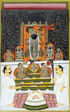 Nathdwara Srinathji at representing the autumn Annakuta Festival. late 18th century.
